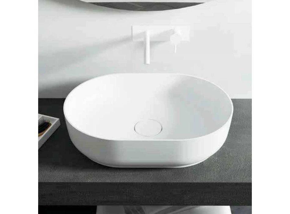 Vrijstaande design badkamer wastafel gemaakt in Italië Dalmine Medium
