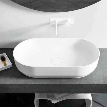Moderne design ovale wastafel Dalmine Big, gemaakt in Italië
