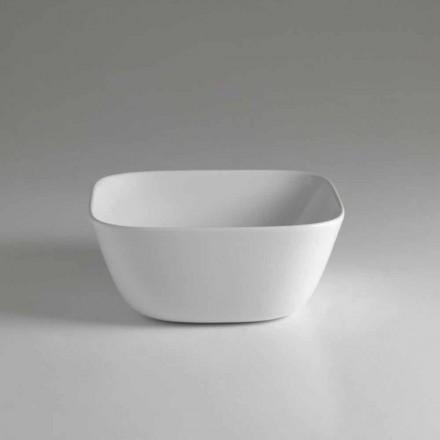 Made in Italy Design vierkante aanrecht keramische wastafel - Sonne