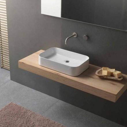Modern design rechthoekige keramische aanrecht wastafel - Tangulo