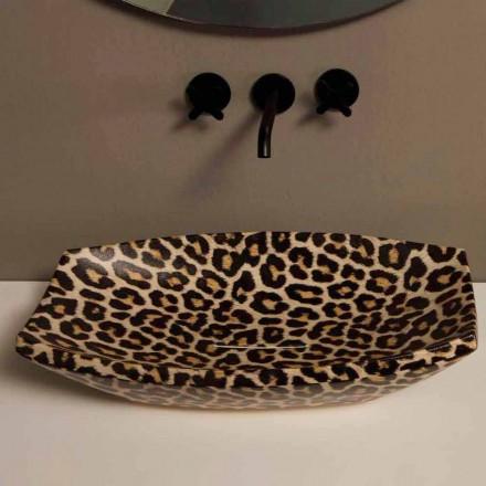 Cheetah keramische aanrecht wastafel gemaakt in Italië door Laura