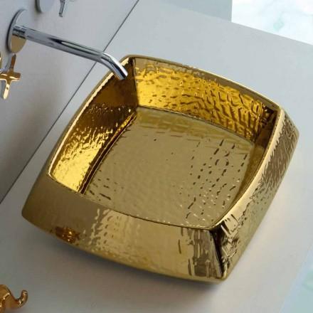 Moderne aanrecht gouden keramische wasbak geproduceerd in Italië Simon