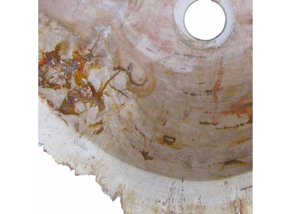 Houten wastafel Fossil Counter Goa enkel stuk