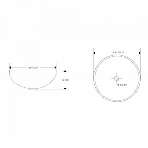 Aanrechtharswastafel met moderne parelmoeren inzetstukken - Salvatore