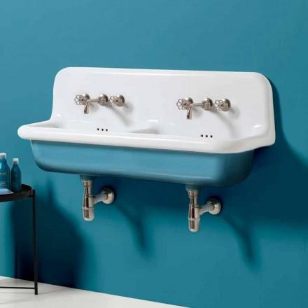Modern wastafel dubbele wand tank in keramische vormgeving Jack