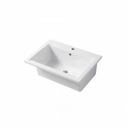 Moderne wastafel met één gat in wit of gekleurd keramisch Panama