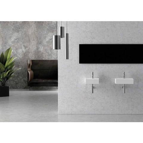 Vierkant of rechthoekig modern design keramische wastafel gemaakt in Italië - Act