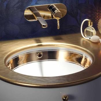 Barokke gootsteen ondergedompeld in vuurklei en goud gemaakt in Italië, Egeïsch