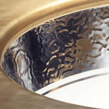 Barok onderbouwwastafel in vuurklei en platina gemaakt in Italië, Aegean