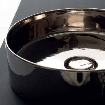 Round wastafel gekleurde keramische lagers Icon Alice Keramiek
