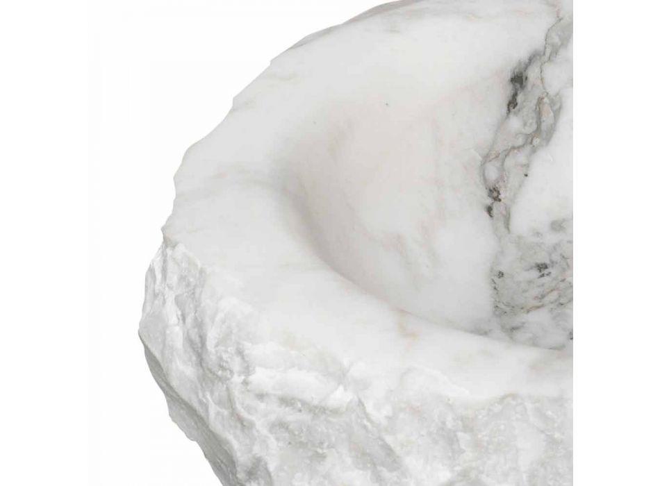 Ronde Carrara marmeren aanrecht wastafel gemaakt in Italië - Canova