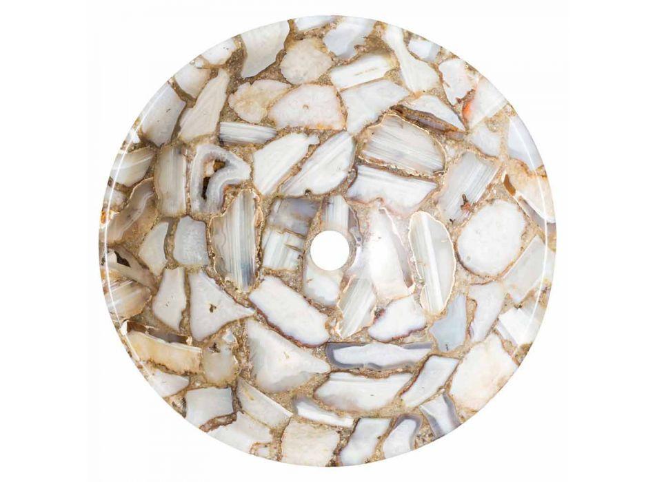 Aanrecht ronde steen steun agaat Mila, enkel stuk