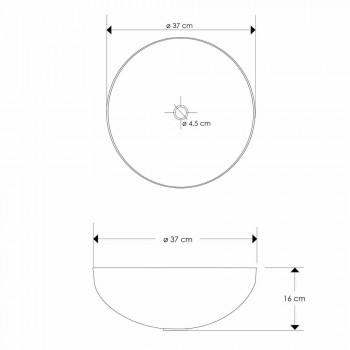 Moderne aanrecht ronde wastafel in nikel Loano metaal