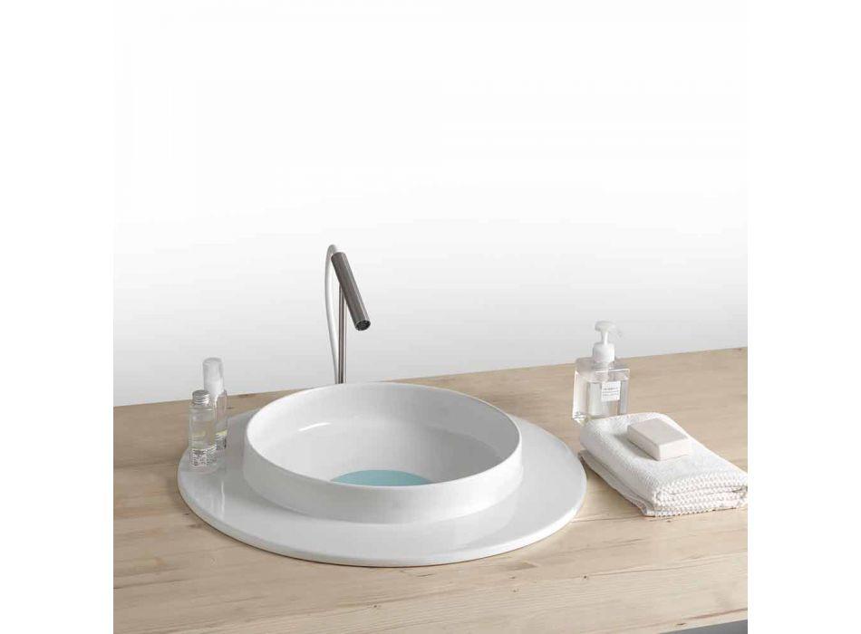 Rond wastafel badkamer in een modern design keramische Kathy