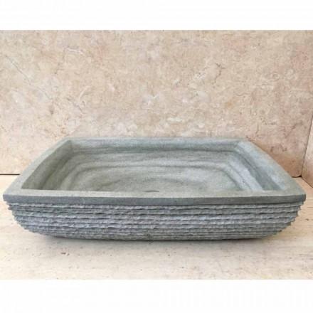 Design groene wastafel aanrecht in Hilda-steen