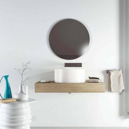 Design ronde aanrecht wastafel geproduceerd 100% in Forino, Italië