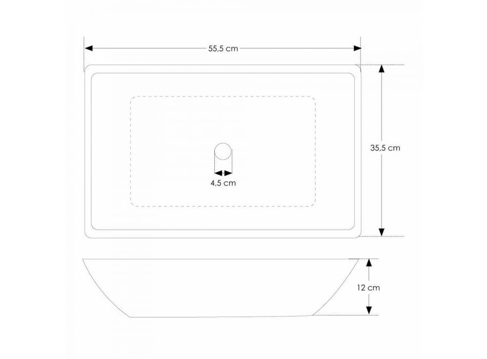 Aanrecht design wasbak met handgemaakte cement tub