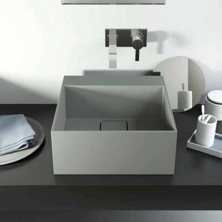 Wastafel met modern design, 100% geproduceerd in Lavis, Italië