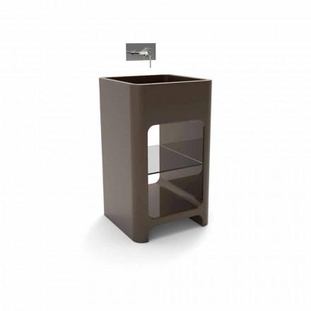 Moderne monoblock vrijstaande wastafel gemaakt in Italië, Tufino