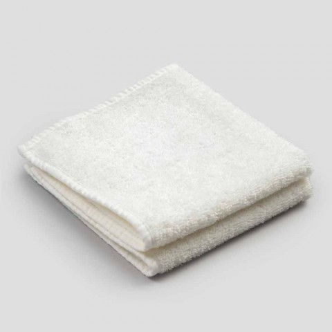 Badhanddoek voor gasten in badstof met rand van gemengd linnen 6-delig - kam
