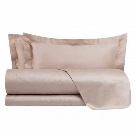 Katoensatijnen lakenset voor tweepersoonsbed, effen kleur - Freesia
