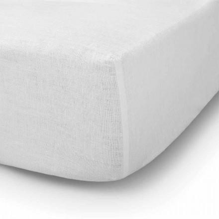 Hoeslaken voor tweepersoonsbed, eenpersoonsbed of tweepersoonsbed in linnen - Copertino