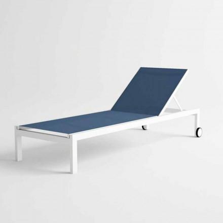 Moderne design aluminium ligstoel met wielen - Danubio2