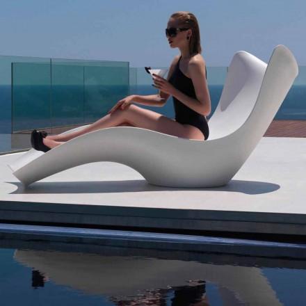 Modern buiten ligbed, in polyethyleen, Surf van Vondom, 2 stukken