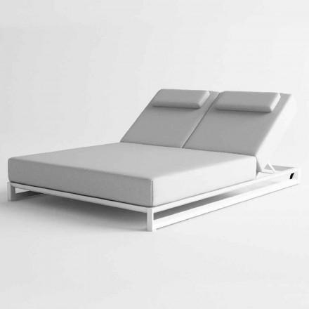 Ligstoel voor buiten in aluminium en stof - Gioacchino