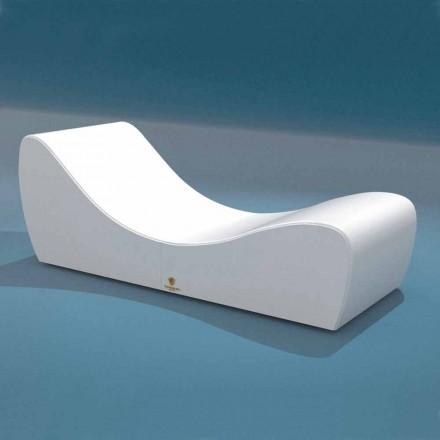 Cot ontspannen Wave Trona witte nautische imitatie leer gemaakt in Italië