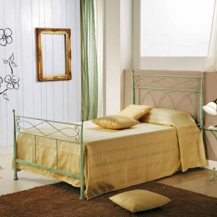 Eenpersoonsbed en een half Gabriella groene ijzeren geslagen koper