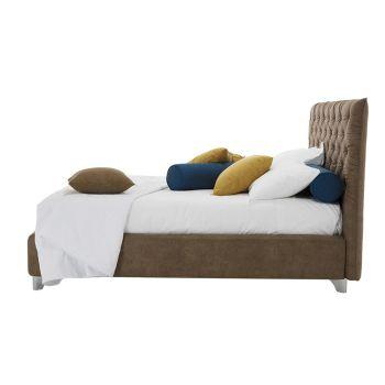Bedcontainer dubbel gewatteerde stof of kunstleer Made in Italy - Euro