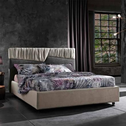 Modern design tweepersoonsbed met gevouwen of doorgestikt hoofdeinde - Alano