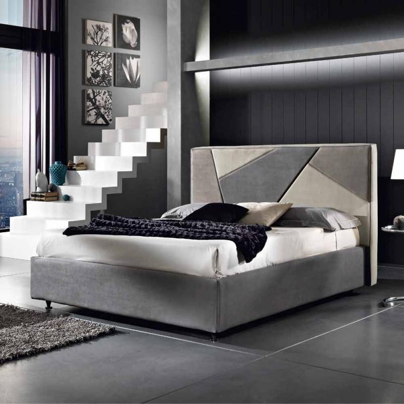 Bed gestoffeerd bed met container opheffen van 160x190 / 200cm Mia