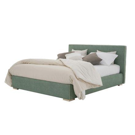 Dubbel bed in stof of eco-leer met houder Made in Italy - Etoile