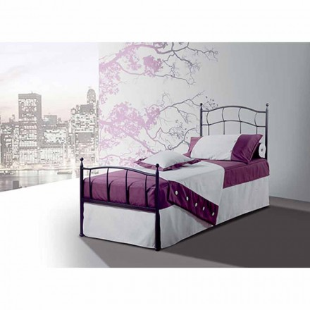 Single Bed in smeedijzer Amethyst