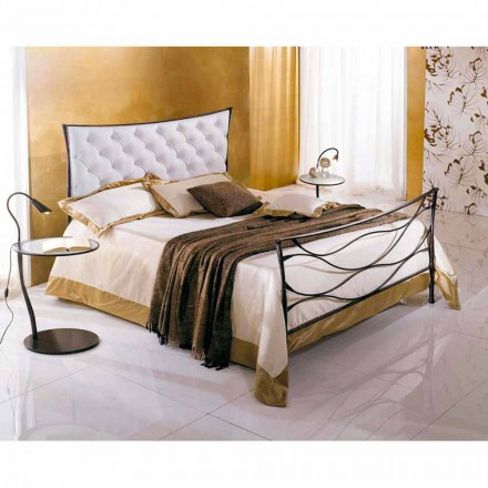 Een bed and a Half Plein smeedijzer Hydra Capitonnè