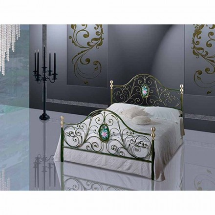 Een bed and a Half Plein smeedijzer Turquoise