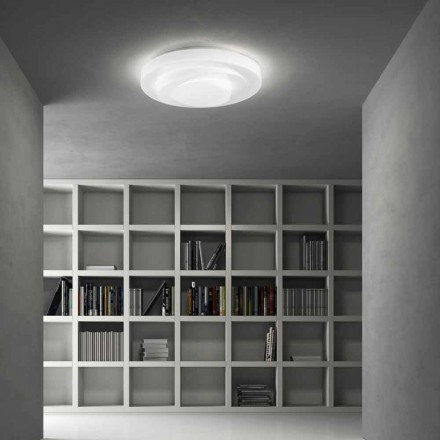 Leucos Looplijn LED plafondlamp plafond in wit satijn