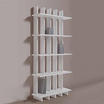 Shabby Chic wandboekenkast in essenhout met modern design - Babele