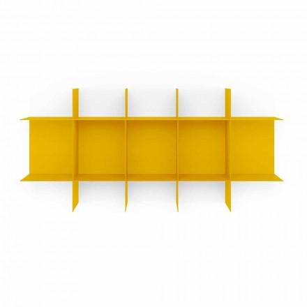 Modulair design wandboekenkast van hoogwaardig metaal - Roger