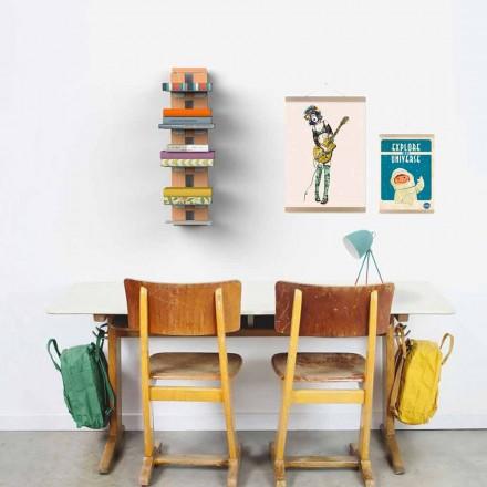Bibliotheek modern design muur Tante Hortense