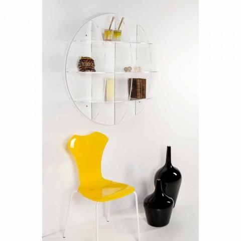 Moderne Boekenkast Wit.Boekenkast Wit Modern Design Muur Don Made In Italy