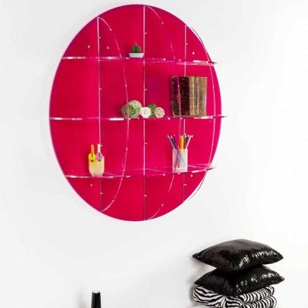 Wand boekenkast in gekleurd plexiglas gemaakt in Italië, Giofora