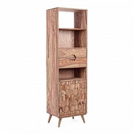 Vloer Boekenkast met houten structuur Design Vintage Homemotion - Ventador