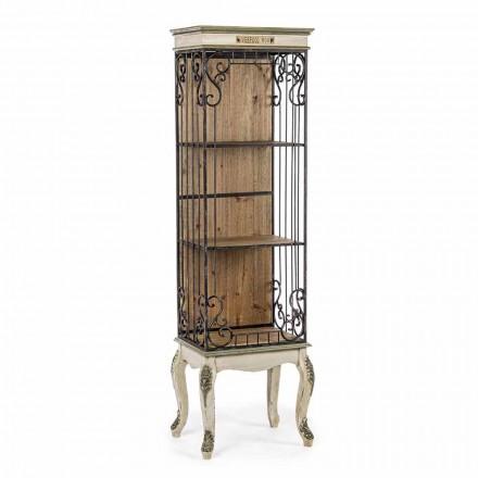 Klassieke design boekenkast in hout en staal Homemotion - Verena
