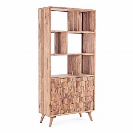 Vintage design boekenplank in hout en staal Homemotion - Ventador