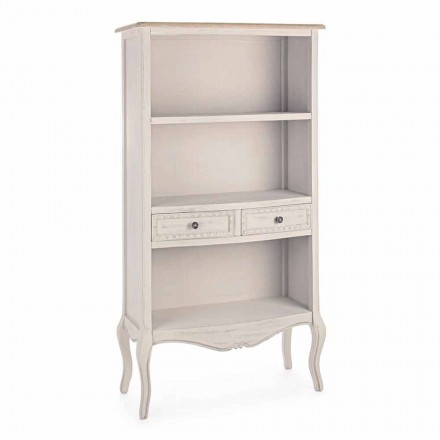 Klassieke design boekenkast met houten structuur Homemotion - Jollie