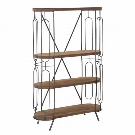 Moderne design boekenkast in ijzer en MDF - Veronique