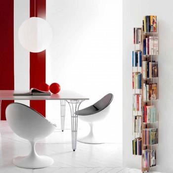 Zia Veronica moderne op de vloer gemonteerde boekenkast gemaakt in Italië